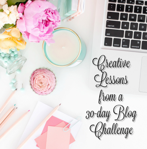 creative lessons from the blog challenge