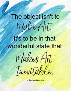 Art is inevitable
