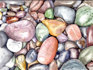 "Hidden Treasure, watercolour, 12x9"""