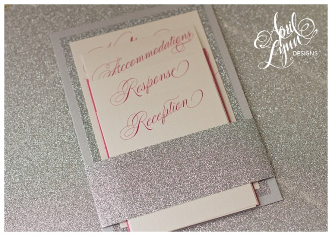 Silver And C Baby 39 S Breath Wedding Invitations