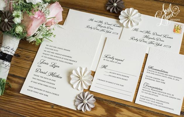 New York Wedding Invite Filigree