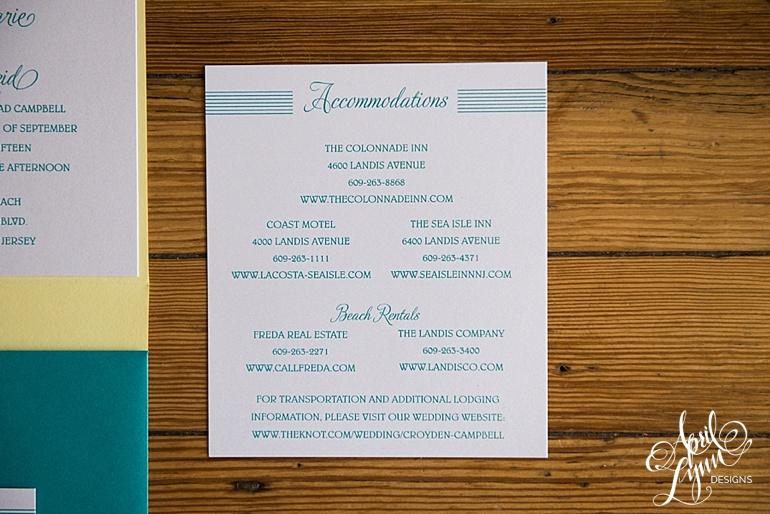 Sea Isle City Destination Wedding Invitation