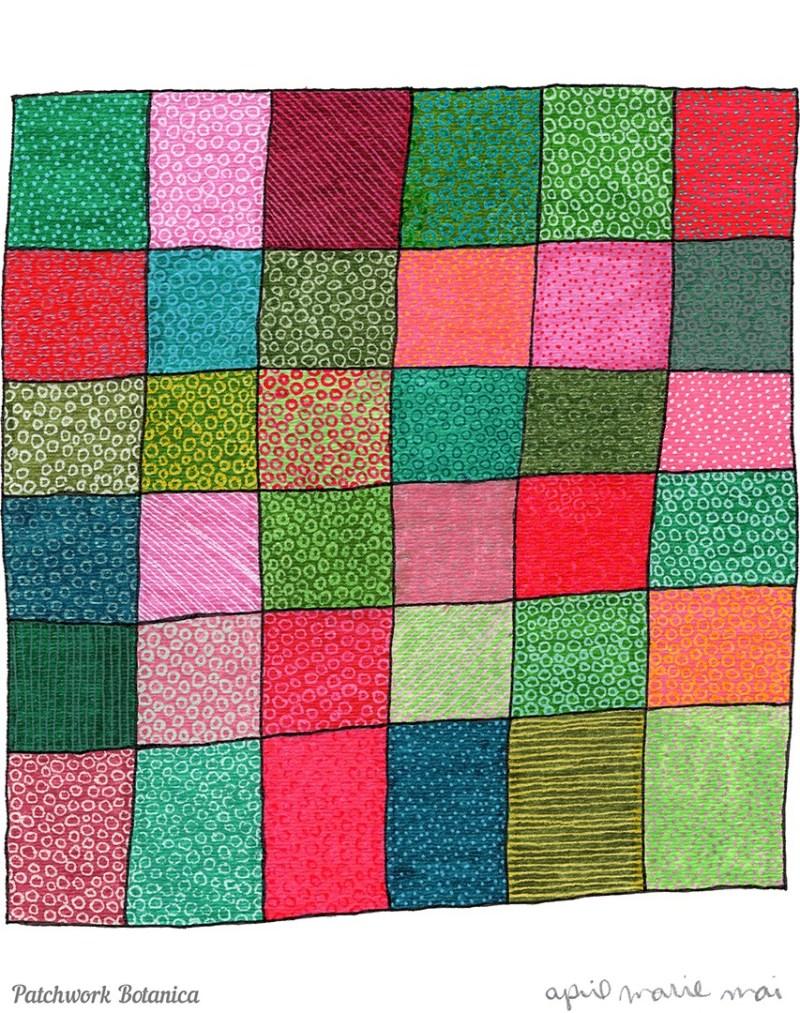 Abstracted Adiantum Fern Print