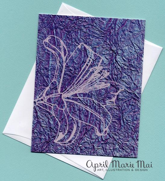 Purple Lily Card