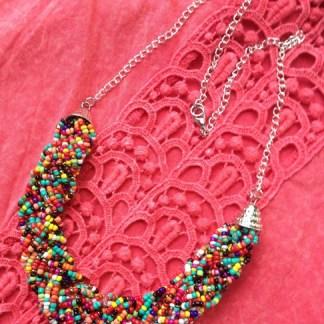 Rainbow Confetti Necklace