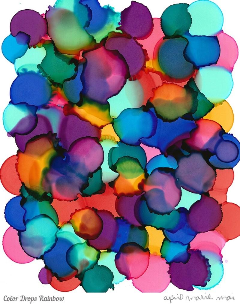 Color Drops Rainbow Print