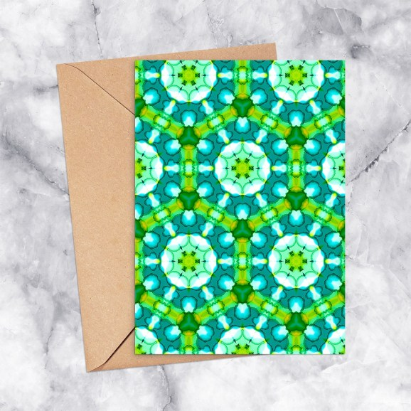 Printable Greeting Card Kaleidoscope 2196