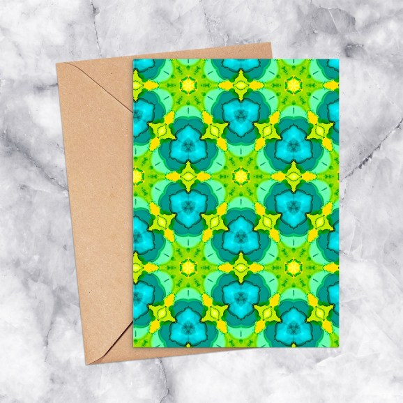Printable Greeting Card Kaleidoscope 2200