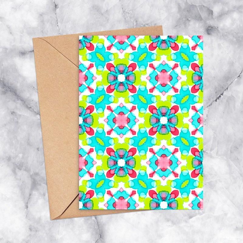 Printable Card Kaleidoscope 2305