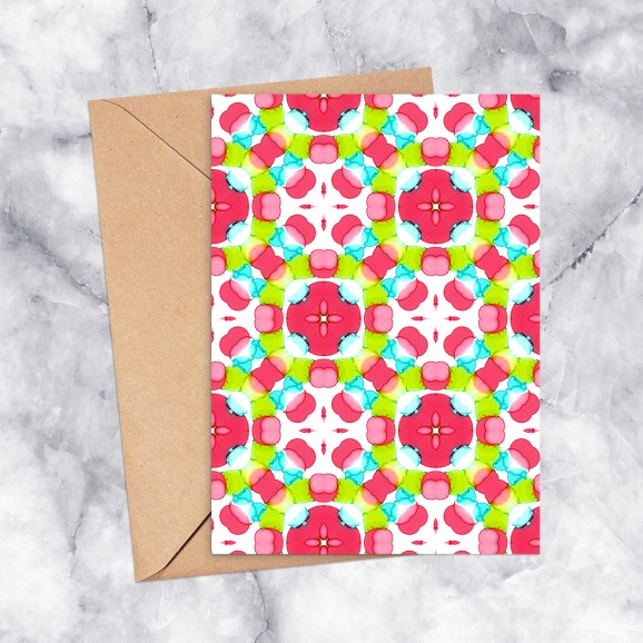 Printable Greeting Card Kaleidoscope 2300