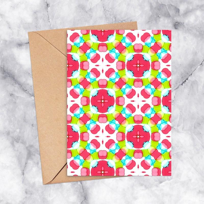 Printable Greeting Card Kaleidoscope 2300