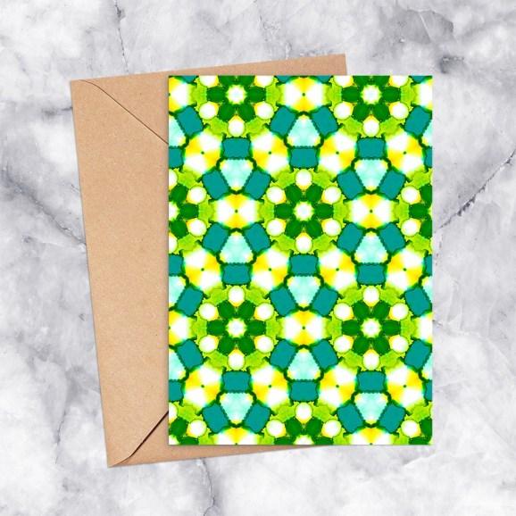 Printable Greeting Card Kaleidoscope 2193