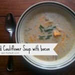 Roasted Cauliflower Soup with Bacon