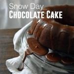 Snow Day Chocolate Cake