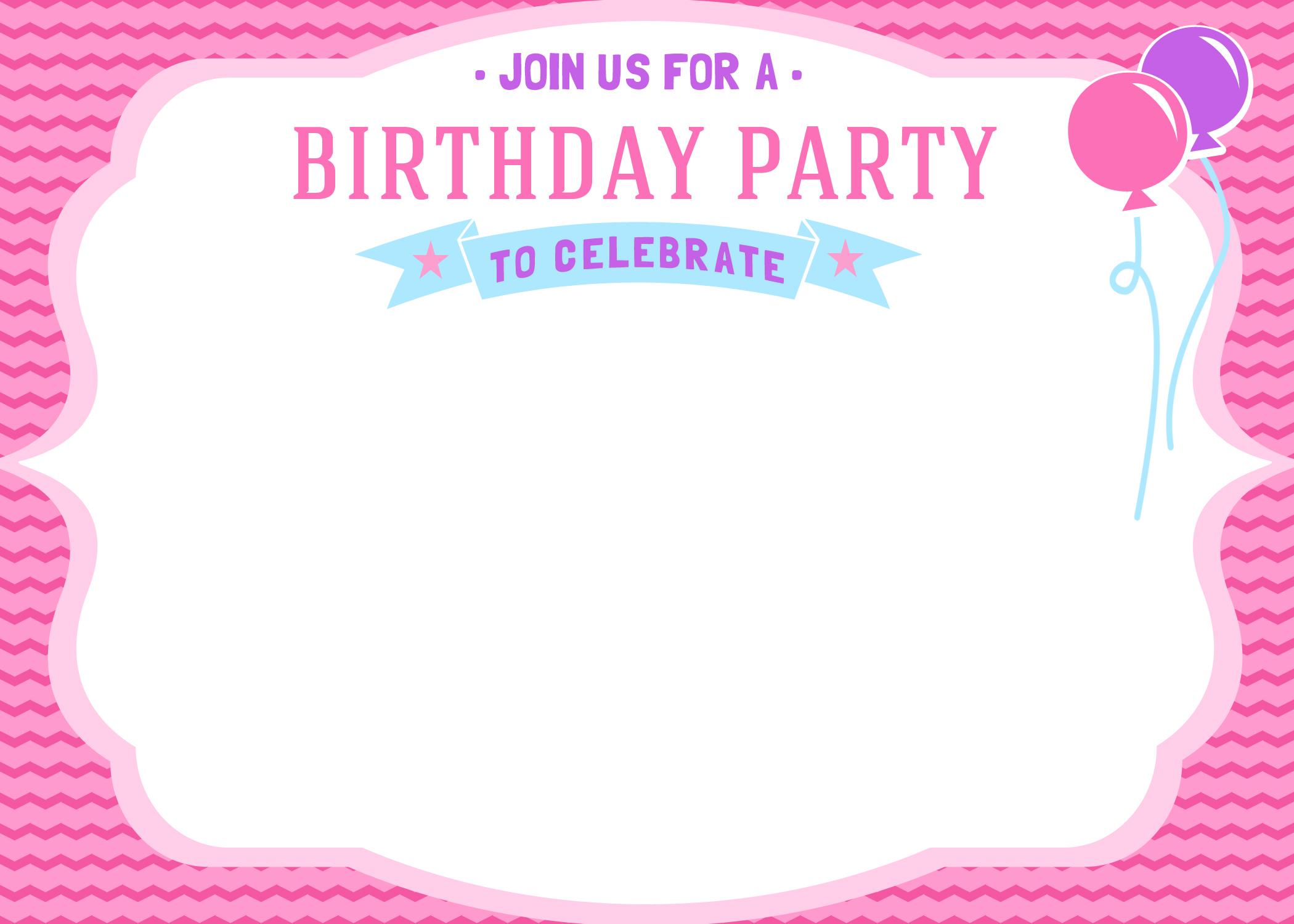 Free Girls Birthday Invitation Printables