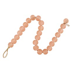 Pink glass beads for coffee table decor