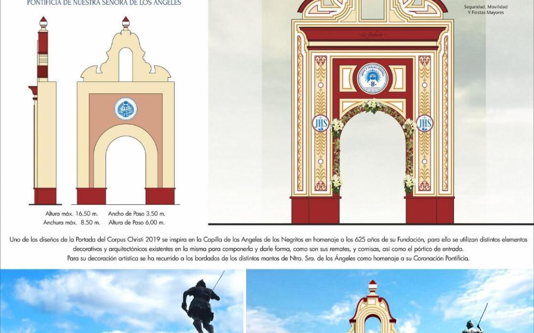 Aprocom asiste a la presentación del diseño de las portadas del Corpus del 20 junio.