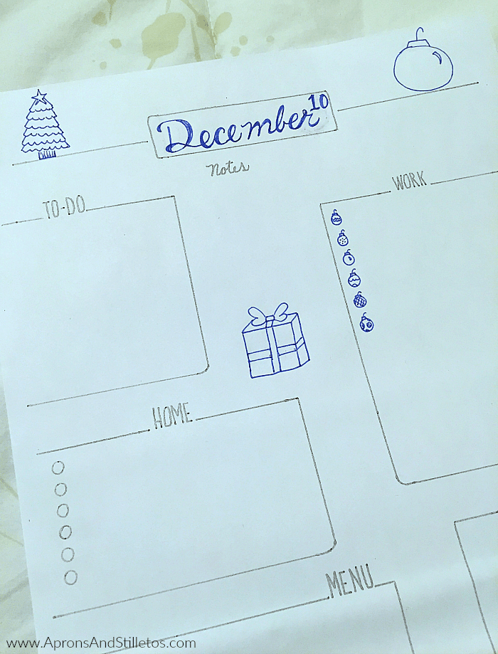 Hand Drawn Planner Page Printable