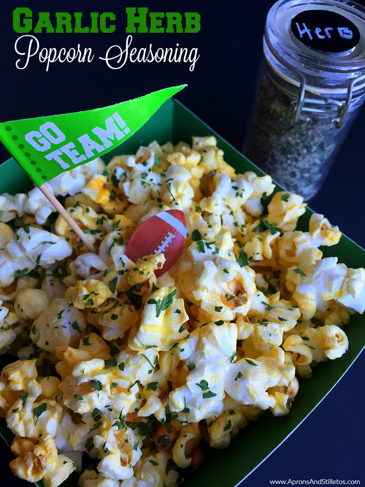 Big Game Popcorn Bar | Garlic Herb Popcorn Seasoning & Cheesy Taco Popcorn Seasoning Recipes