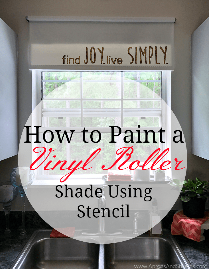 How to Paint a Vinyl Roller Shade Using Stencil