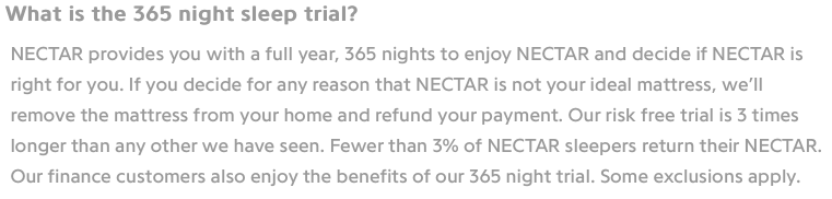 NECTAR 365 Home Trial