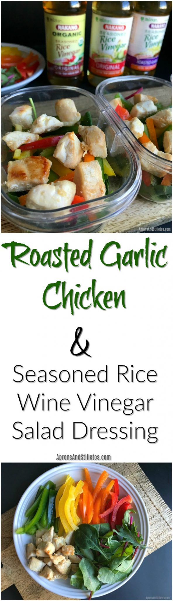 Roasted Garlic Chicken and Seasoned Rice Wine Vinegar Salad Dressing
