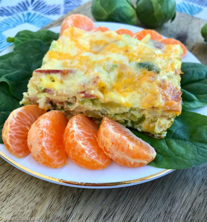 Low Calorie Egg Bacon and Brussel Sprout Casserole