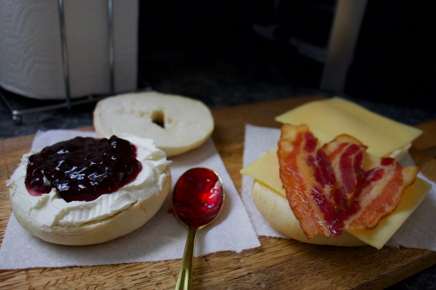 Easy On-The-Go New York Bagels with Brawny® Tear-A-Square®