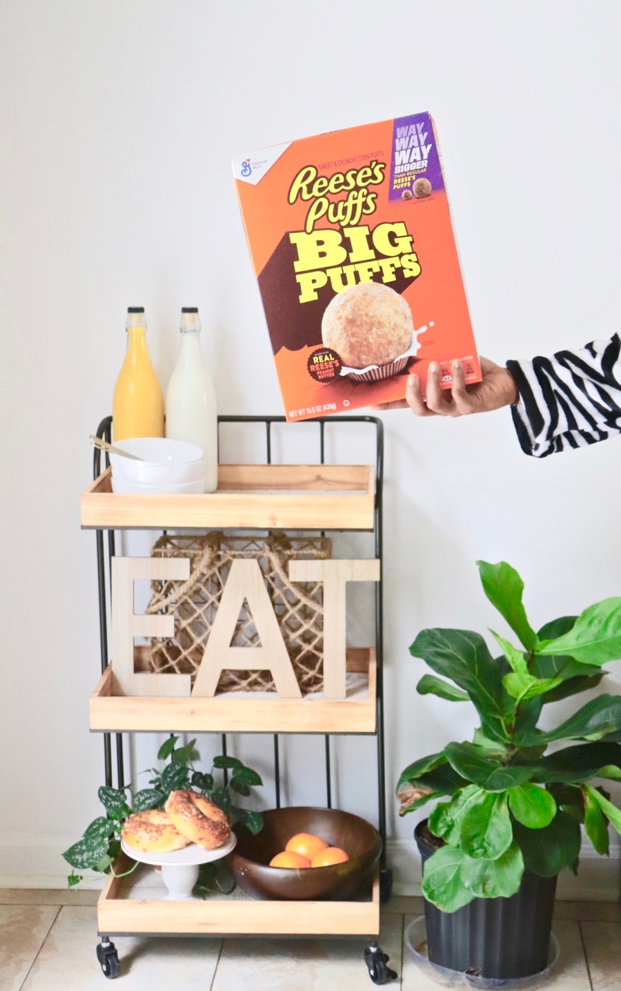 DIY Teen Breakfast Cart