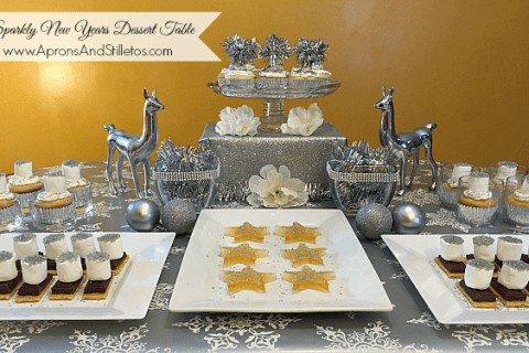 Sparkly New Year's Eve Dessert Table