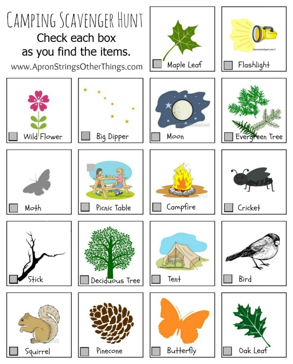 Camping Activities for Kids Printables