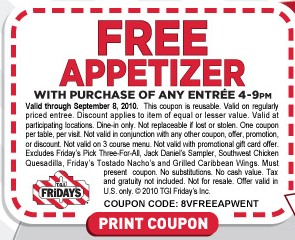 FREE Appetizer at T G I  Fridays | A Proverbs Wife