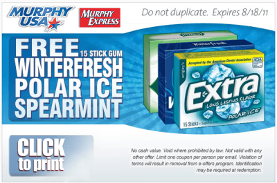 Print A Coupon For A Free Extra Winter Fresh Polar Ice Gum A Proverbs Wife