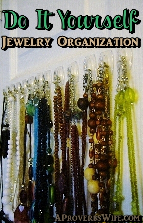 DIY Jewelry Organzation - AProverbsWife.com