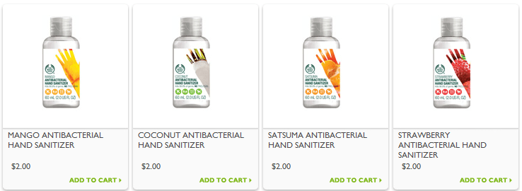 FREE $2 The Body Shop hand sanitizers & FREE Shipping! (Reg. $4)