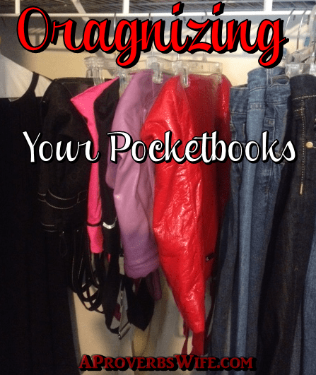How I Organize My Pocketbooks With Repurposed Hangers A