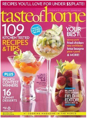 Taste of Home Magazine Subscription only $4.50 per year! (thru 1/6)