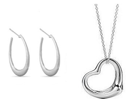FREE Silver Plated Heart Pendant Necklace OR Hoop Earrings