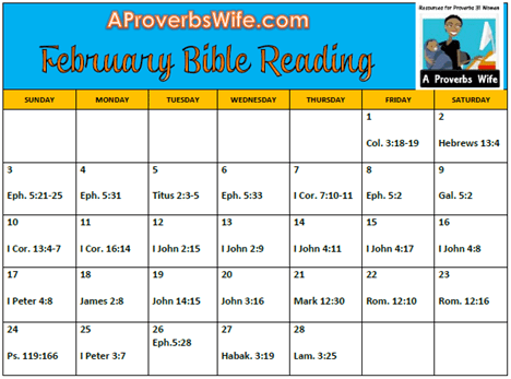 February Bible Reading Plan
