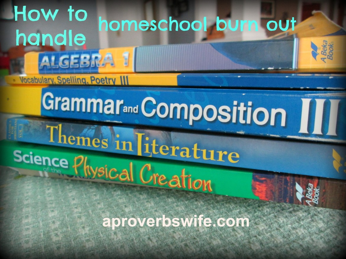 How to handle Home School burn out