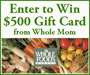 Whole Foods Market $500 Giftcard Giveaway