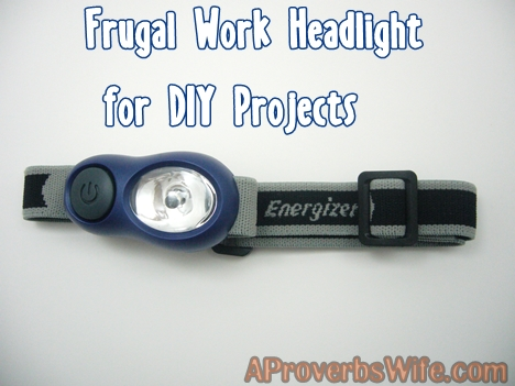 Frugal Work Headlight for DIY Projects