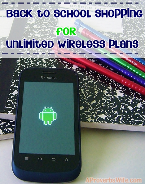 Back to School Shopping for Unlimited Wireless Plans