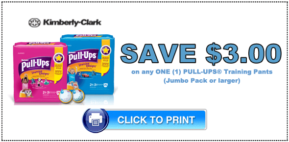 High Value $3/1 Huggies Pull-Ups® Coupons + 5 Potty Training Tips for Moms