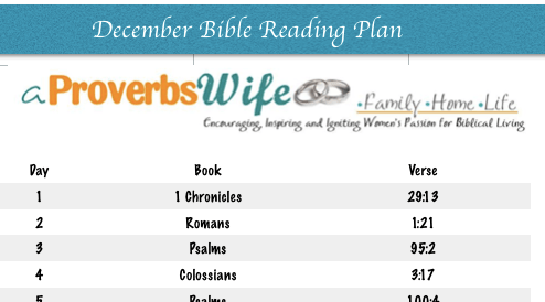 FREE Printable December Bible Reading Plan
