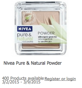 Would You Like to Try Nivea Pure & Natural Powder?