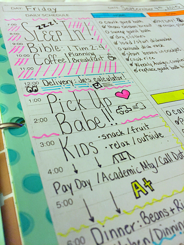 Daily Planner Sheet Printable