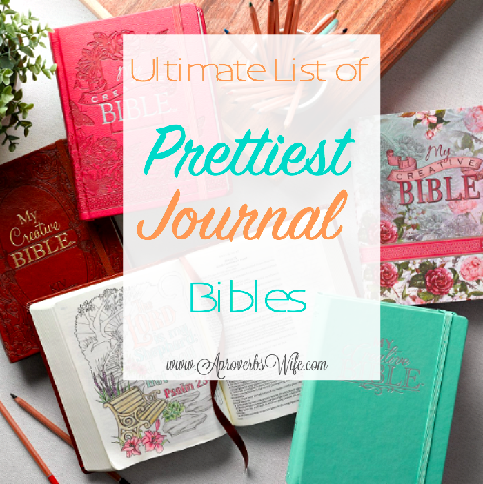 Ultimate List of Prettiest Journal Bibles