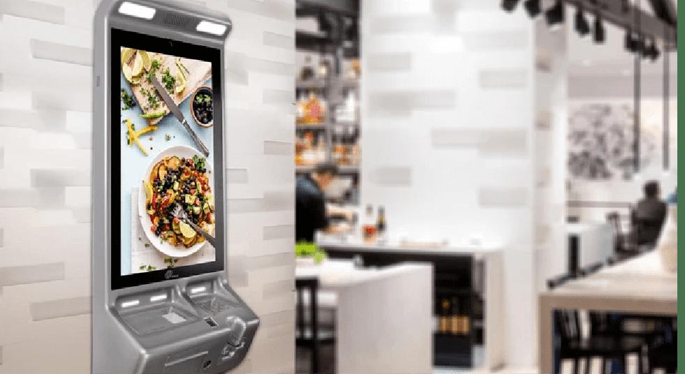 Self-ordering Kiosk on the floor