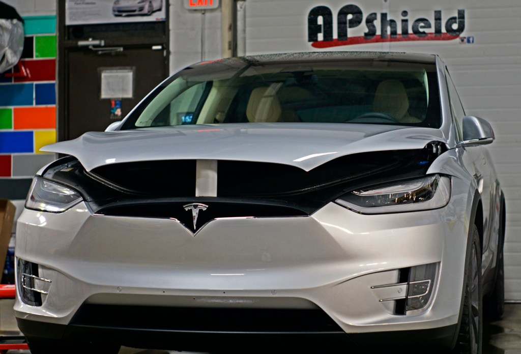 Siler Tesla Model X wrapped in 3m chip guard film